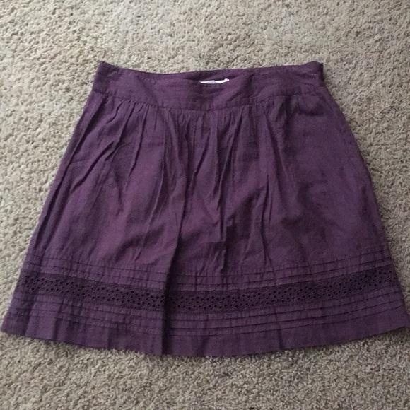 LOFT Dresses & Skirts - The loft purple mini skirt